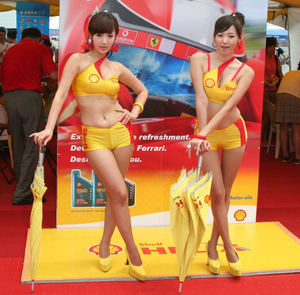 5 Shell Oils Promo Girls